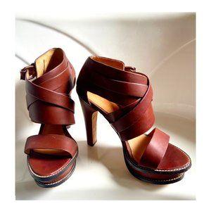 L.A.M.B by Gwen Stefani Ankle Platform Heels